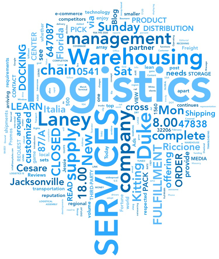 Laney & Duke Logistics offer cross docking, warehousing, transportation, kitting, order fulfilment, pick and pack